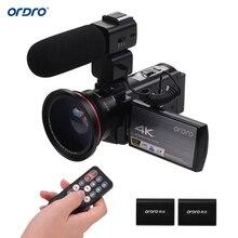 ORDRO HDV-AE8 4K WiFi IR Night Vision Digital Video Camera Camcorder DV Recorder 24MP 16X Digital Zoom with 2pcs Batteries