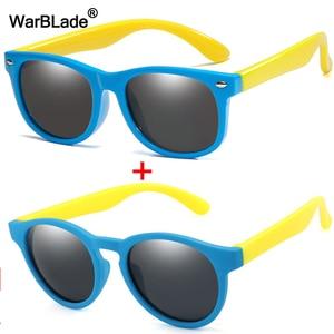 WarBlade Round Polarized Kids Sunglasses Silicone Flexible Safety Children Sun Glasses Fashion Boys Girls Shades Eyewear UV400