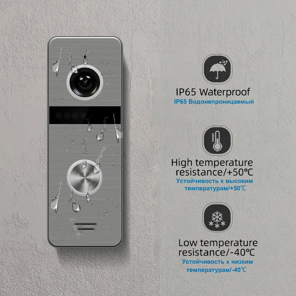7-inch Color Video Doorbell WiFi Wired Intercom System Used In Multiple Apartments Ip Doorbell Intercom With Monitor Security enlarge