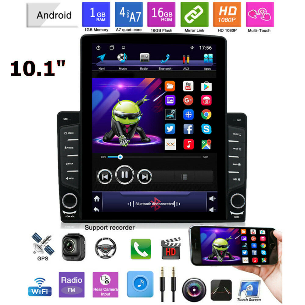 "10.1 ""1DIN Android 9.1 HD Quad-core 1GB + 16GB autoradio GPS Nav lecteur MP5"