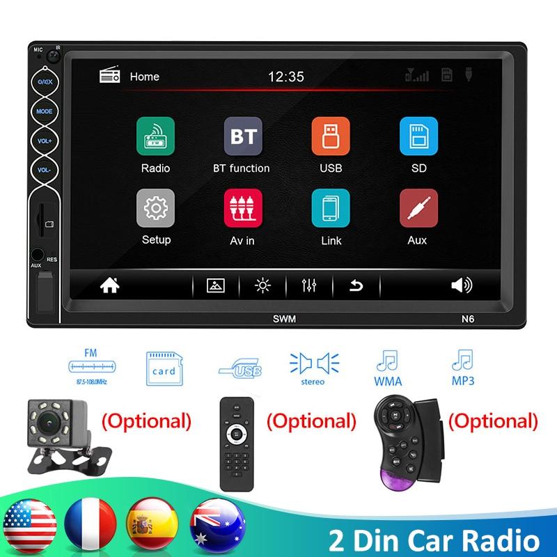 "SWM N6 Universal 2 din Car Multimedia Player Bluetooth Autoradio 2din Stereo 7"" Touch Screen Video MP5 Player USB AUX FM Camera"