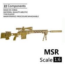 16 Remington MSR Sniper fusil 1/6 soldats en plastique armes accessoires noir Sniper fusil pour 12