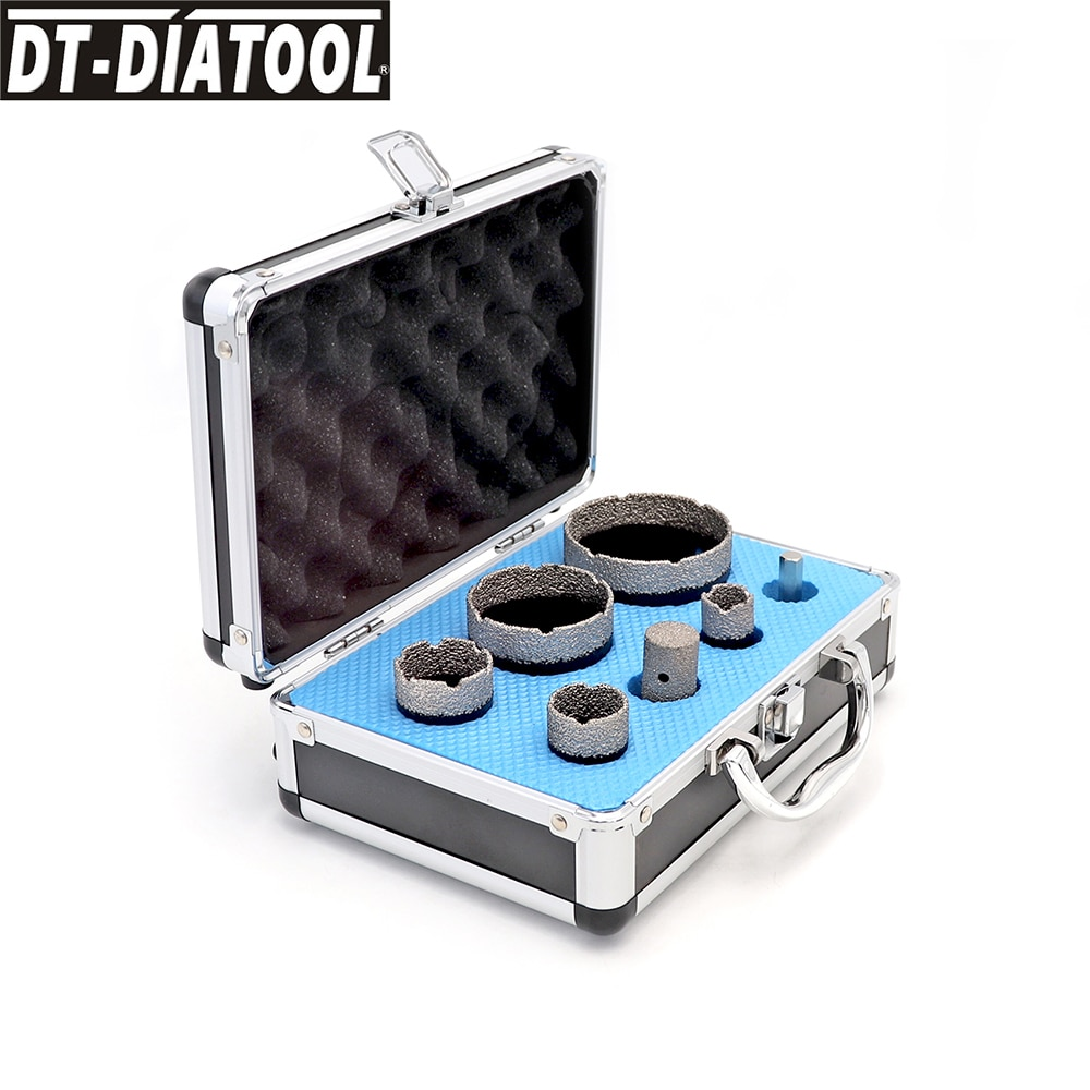 DT-DIATOOL 1 boxed Diamond Drill Core Bits Cutter Sets M14 connection Ceramic Hole Saw and Finger Bits for Porcelain Tile