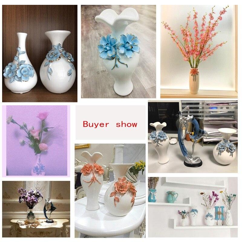 Купить с кэшбэком White vase European ceramic crafts living room wine cabinet decoration home decorations creative small vase