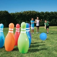 inflatable bowling toy set childrens outdoor toys large outdoor decorations inflatable party props lawn games instruments