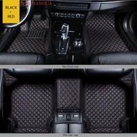 custom car floor mat for toyota verso 2011 2016 year 7seats car accessories leather carpet floor mats