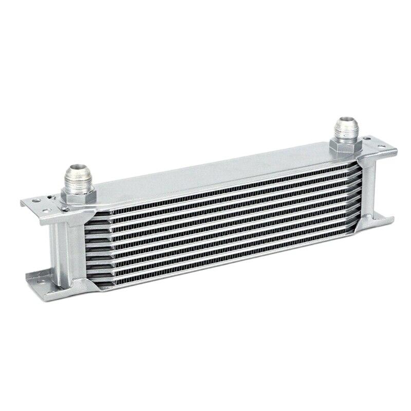 Radiador de aluminio 10 filas tipo británico enfriador de aceite de motor radiador de refrigeración reemplazo enfriador Universal