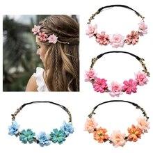 2019 Floral Fashion Flower Headband for Beatuiful Girls Crown Hair Accessories Party flower headband baby girl headbands