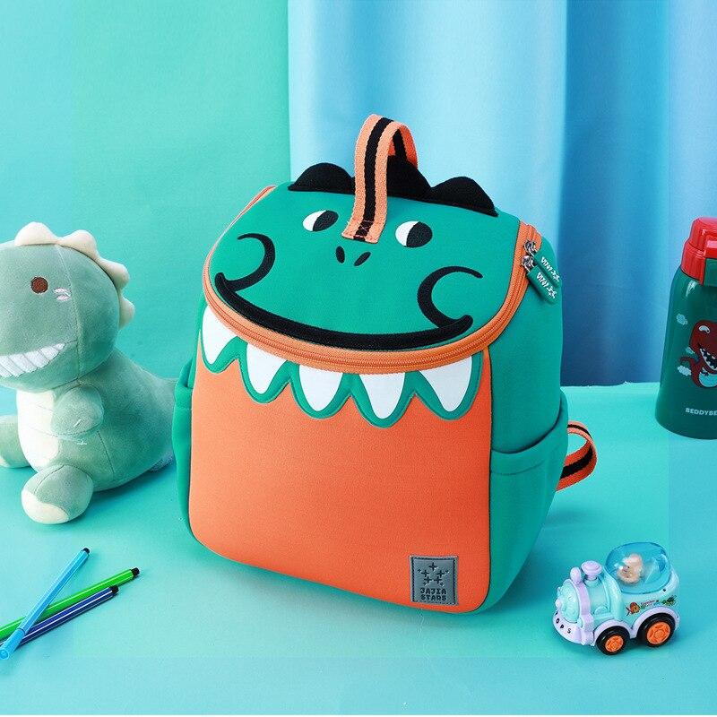 2019 New Green Dinosaur School Bags for Boys Girls Kindergarten Children School Backpacks Cute Animals Book Bags Mochila Escolar
