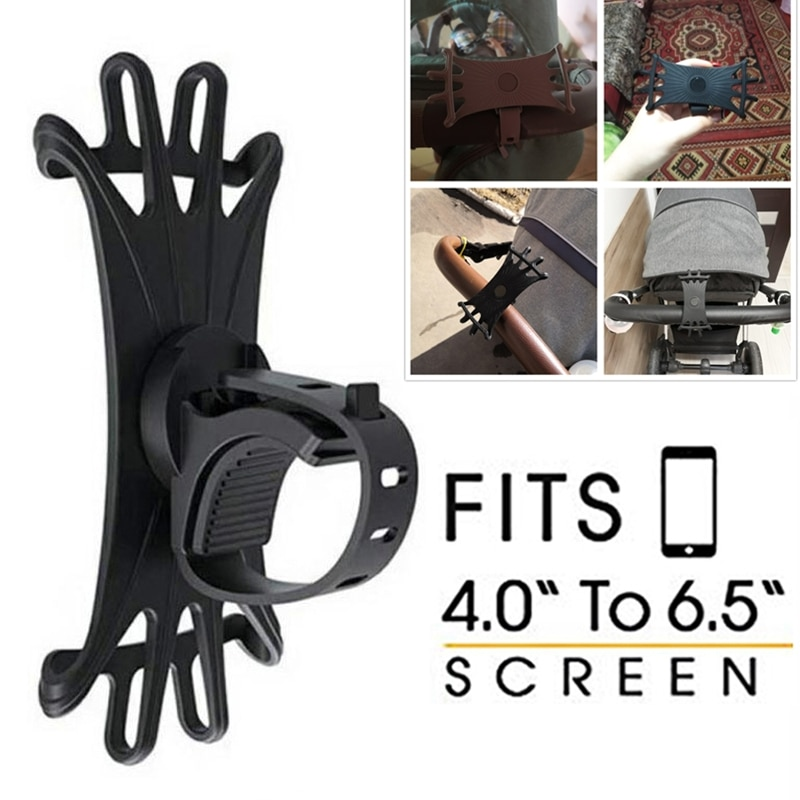 Baby Stroller Accessories Mobile Phone Holder Rack Universal 360 Rotatable Baby Pram Cart Phone Hold