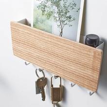 מדף מפתח עץ קולב בית קיר בציר מסדרון בית שטח חיסכון קטן חדר שינה דלת בחזרה דקורטיבי חדר מתלה