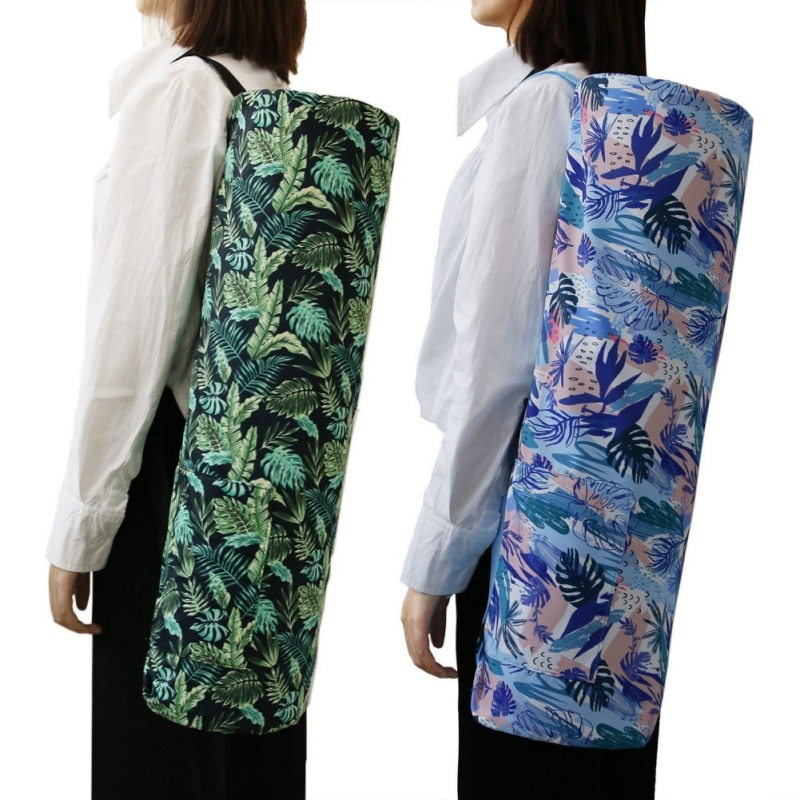 Bolsas de Desporto Capas para Casa Bolsa de Armazenamento Ferramenta com Correias Interior Esteira Yoga Impresso Zíper Drawstring Bags Transportadora Organização
