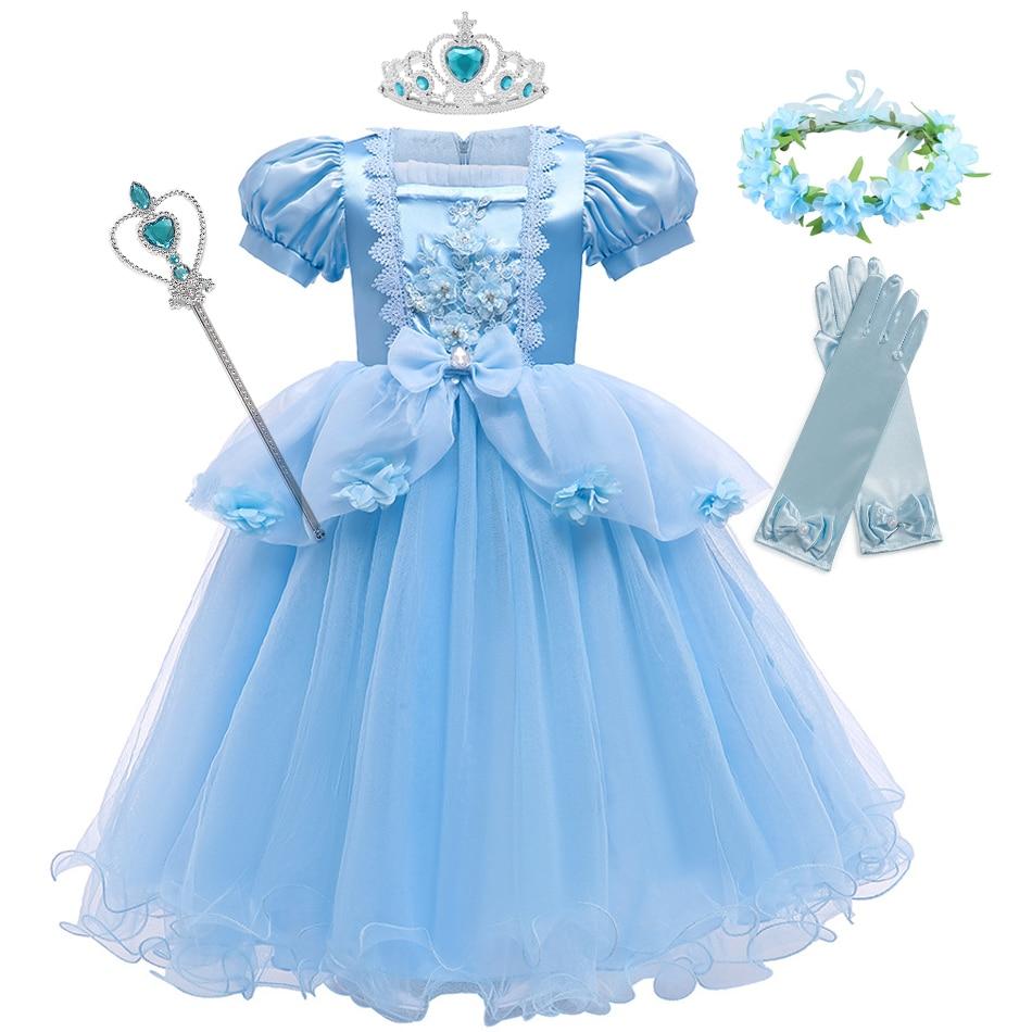м мадера долина эдельвейсов и день рождения принцессы Платье Золушки для девочек, детвечерние вечернее платье для косплея, детское платье принцессы на день рождения, элегантная одежда JYF