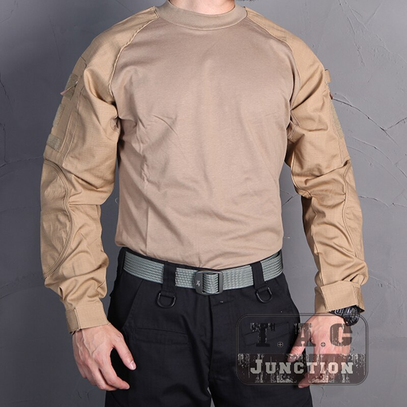 Emerson táctico militar ejército caza combate camisa de manga larga Camiseta EmersonGear CP estilo camisa al aire libre Tops ropa
