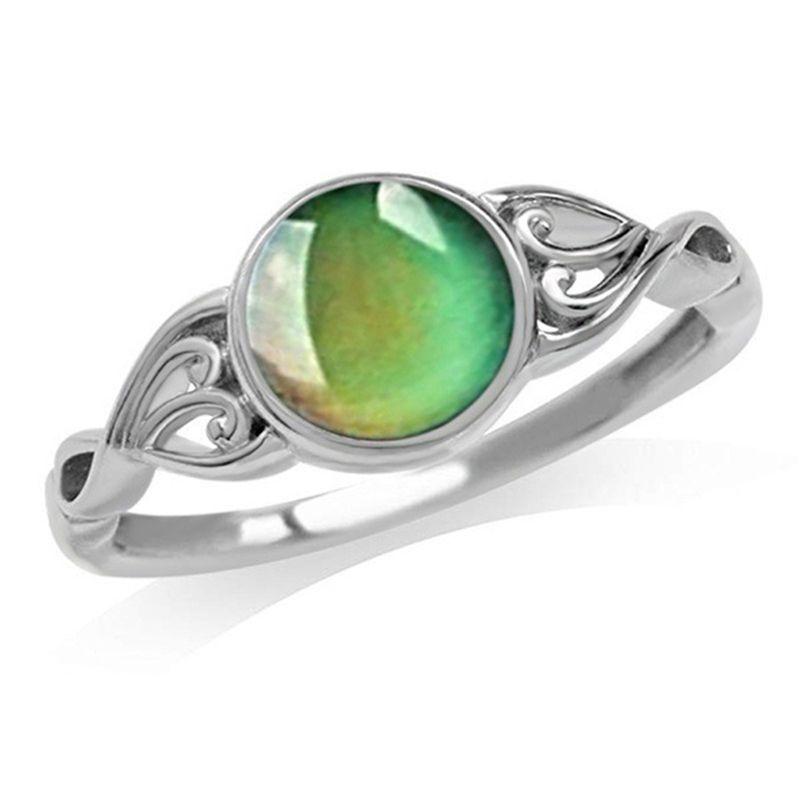 Coração mudança de cor humor anel emoção sentimento temperatura anéis colar feminino y3ne