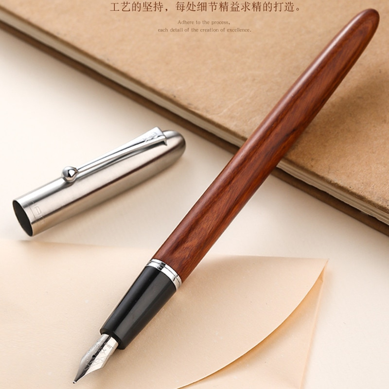 Jinhao 51A Wood Fountain Pen Ink Pen Calligraphy Pen EF/F Nib Stationery Office school supplie sales jinhao 500 unique black engraving luxury stationery school fountain pen and office to write ink pen
