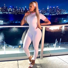 Off Shoulder Long Sleeve Jumpsuit Women Fall Clothing 2021 Sport Active Wear One Piece Outfit Bodyco