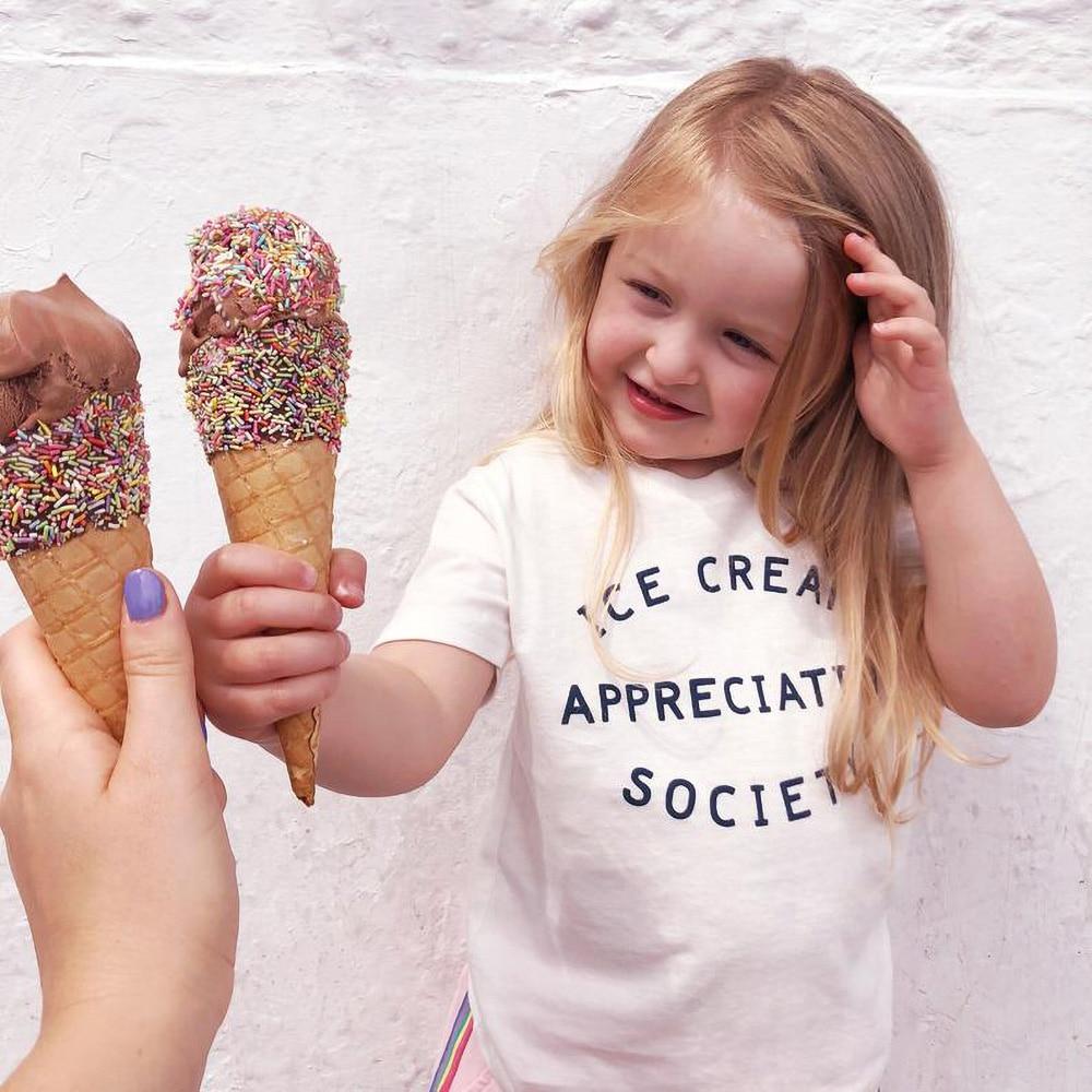 Ice Cream Appreciation Society Kids T-Shirt - Kid's Funny Slogan T Shirt  Clothes Fashion Funny Kids