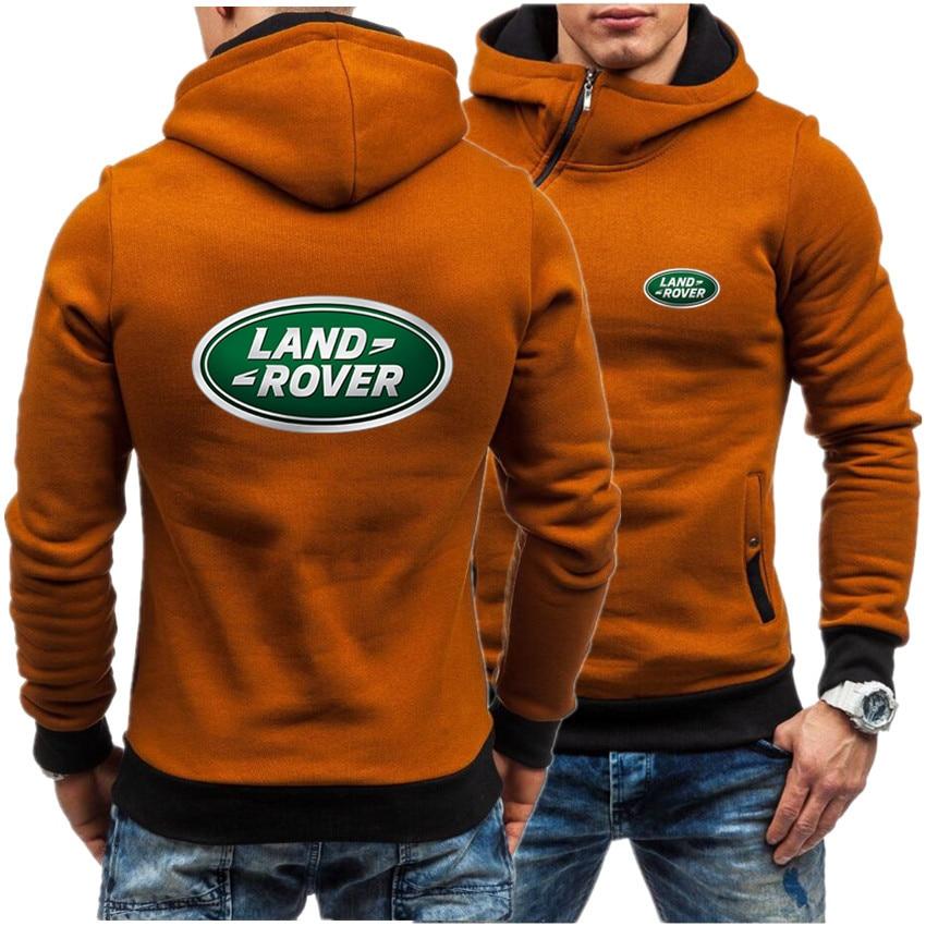 Фото - Land Rover Fashion Hooded Jacket Men's Hooded Sweatshirt Casual Hooded Jacket Zipper Cardigan Plus Velvet S-3XL Brand Clothing fuzzy hooded jacket