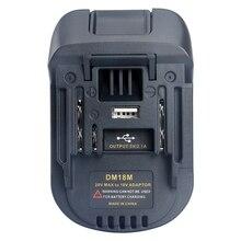Adaptateur doutil de chargeur Li-Ion Dm18M de Conversion de batterie RISE-20V à 18V pour Batteries Milwaukee Makita Bl1830 Bl1850
