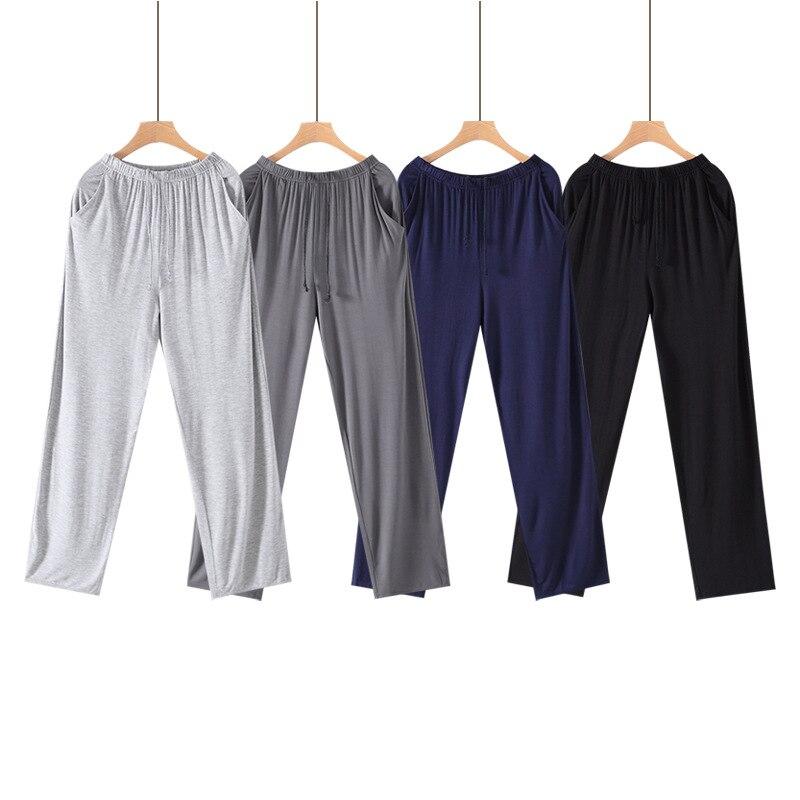 Плюс Размер 4XL Мужчины% 27s Модал Брюки Однотонный Трикотажный Сон Брюки Мужские Дом Брюки Низ Пижамы Сна Низ Мужчины Пижама Домашняя одежда