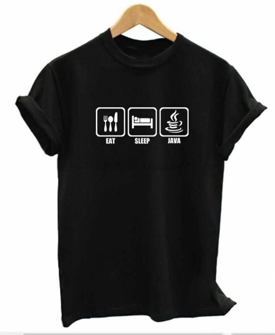 Programador codificador Unisex App Applet camiseta de ordenador Software camisa de ingeniero hombres mujeres Tee Eat Sleep Java