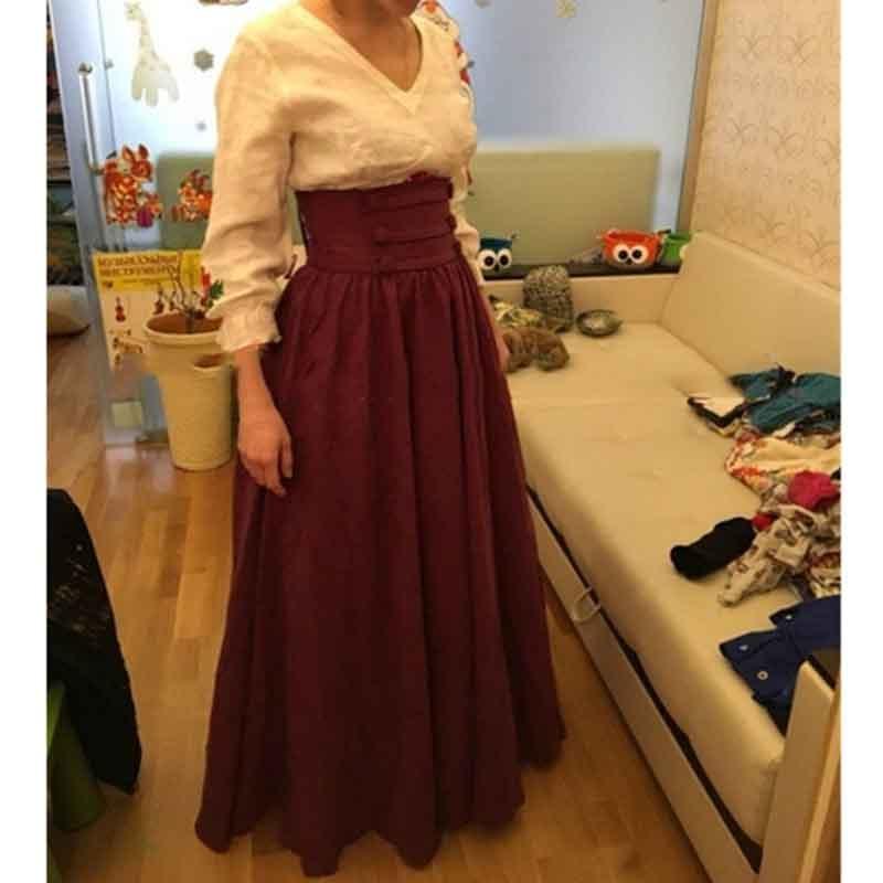 Vintage médiéval Renaissance plissé Maxi jupe pour femmes taille haute Cos Costume automne robe grande balançoire jupe grande taille S-3XL