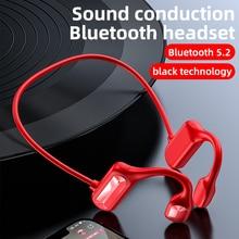 2021 NEW Bone Conduction Headphones Bluetooth wireless Sports Earphone Stereo Headset Hands-free wit