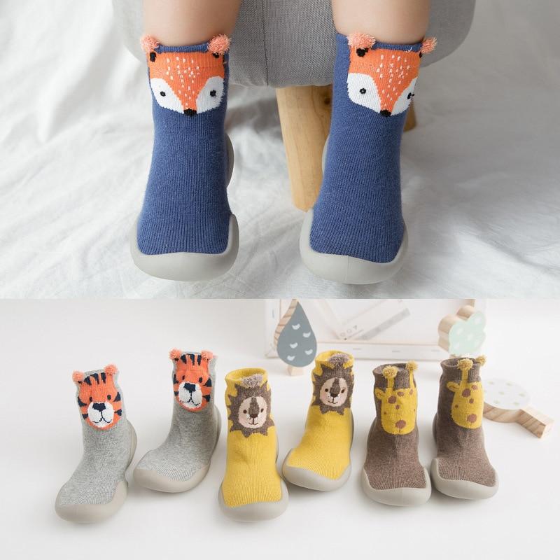 Zapatos antideslizantes para bebés, calcetines suaves para bebés, calcetines con suela de goma, zapatos antideslizantes para niños, calcetines, zapatos