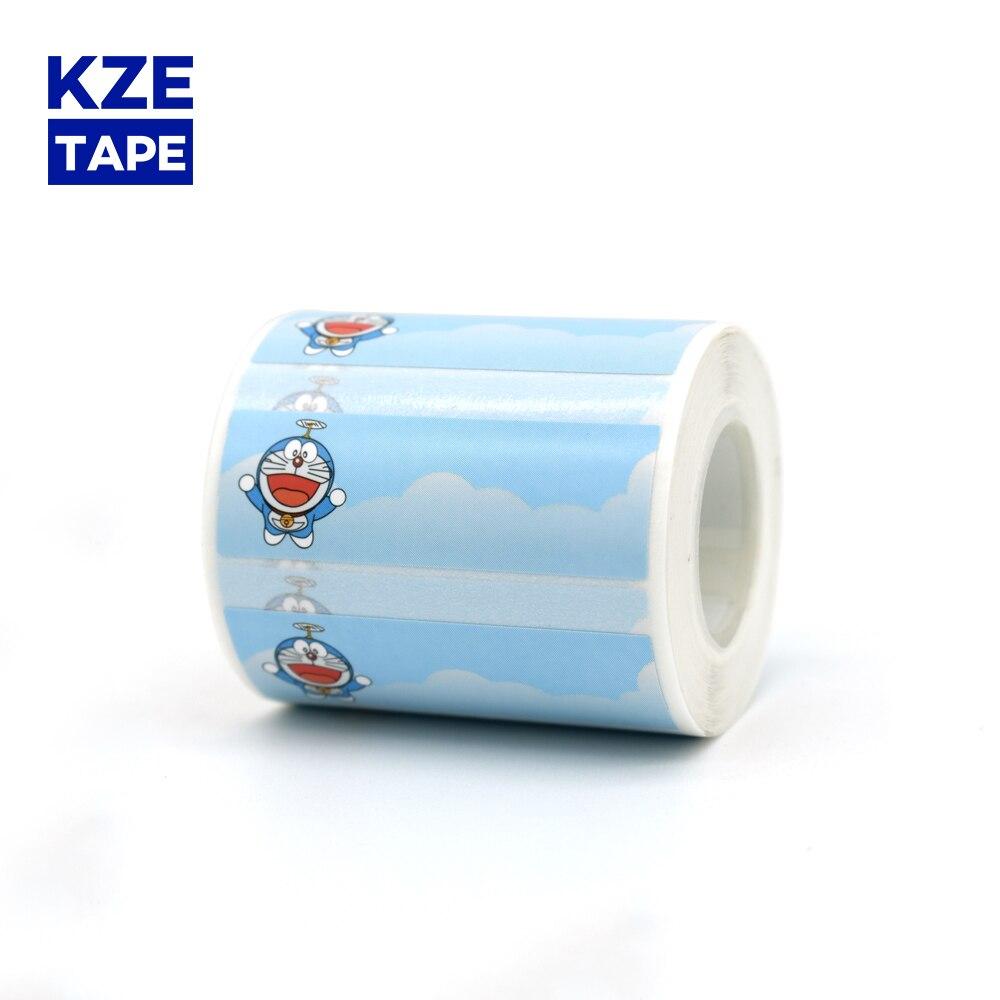 Rolo de etiquetas térmico bonito do gato do robô kze 45*15mm nova fita typeable washi etiqueta linda da marca para eq11 mini impressora térmica da etiqueta