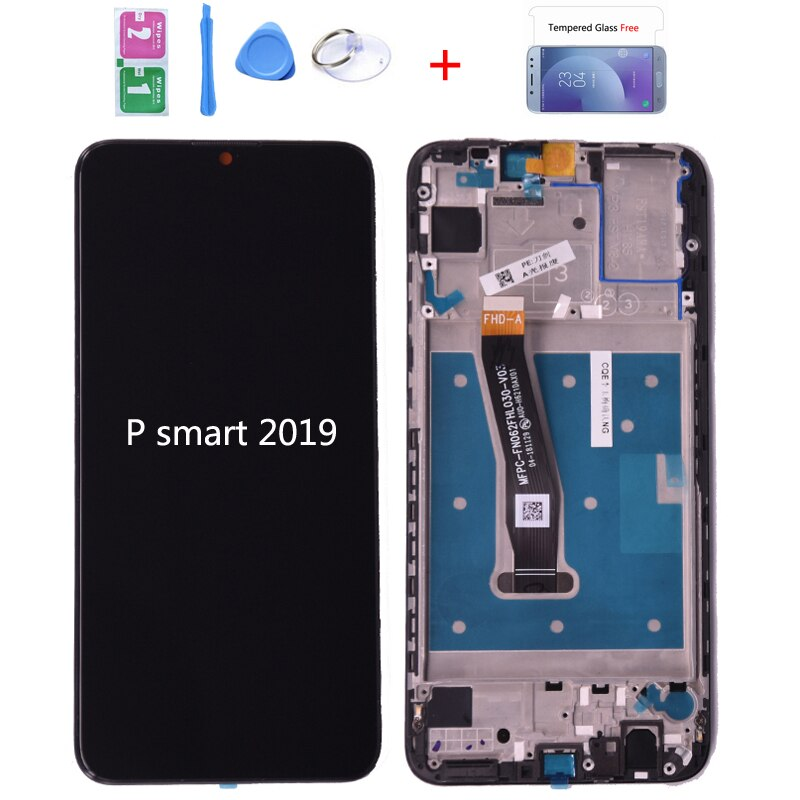 100% Original para Huawei P Smart 2019 pantalla LCD con montaje de digitalizador con pantalla táctil con marco para P smart 2019 pieza de reparación