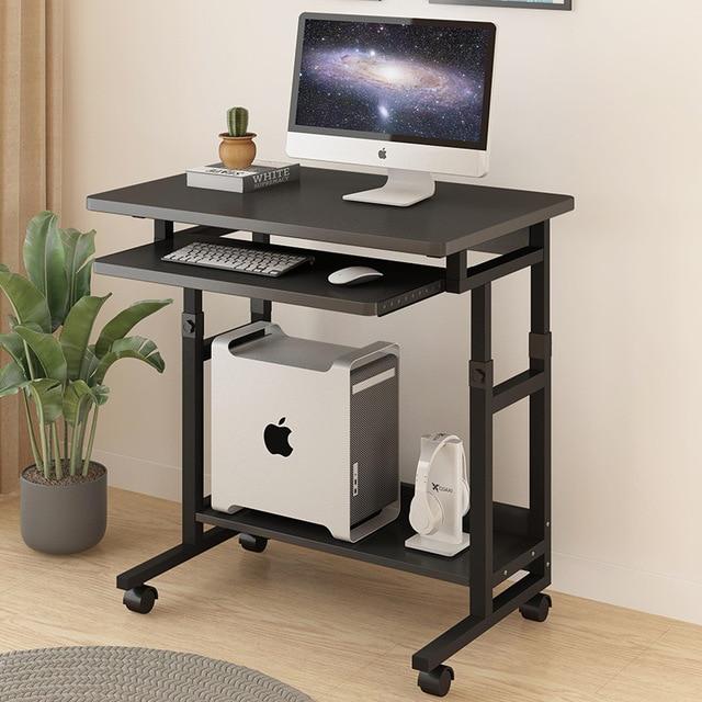 Cama lateral para ordenador portátil, PC de escritorio, escritorio de sobremesa con teclado, bandeja de escritorio, mesa de juegos para estudio de elevación extraíble
