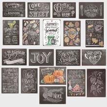 Plaques en fer décoratives   Lettres damour doux/gâteau nourriture/gymnase signes Vintage en métal, Plaque de Bar à la maison, plaques décoratives de cuisine, peintures artistiques murales