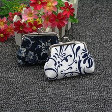 Mini Coin Purse Wallet Women Vintage National Pattern Small Wallet Hasp Printing Creative Clutch Bag