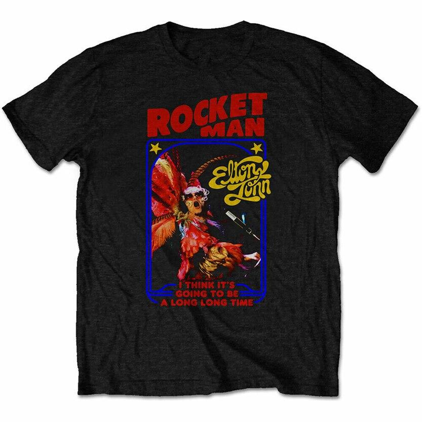 Elton John Rocketman traje de pluma Hombre Unisex Camiseta S, M, L, Xl, 2Xl Oficial Plus tamaño Camiseta