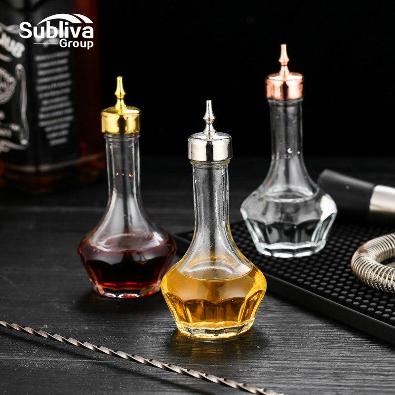 50ml chanfrado dash garrafa de vidro amargo licor pourer barra ferramenta barware barware bartender cocktail