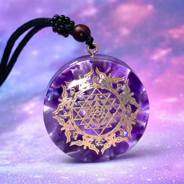 LOOKER Reiki Orgonite Pendant Natural Shell Amulet Healing Crystal Pendant Meditation Pendant For Men Women недорого