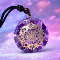 looker reiki orgonite pendant natural shell amulet healing crystal pendant meditation pendant for men women