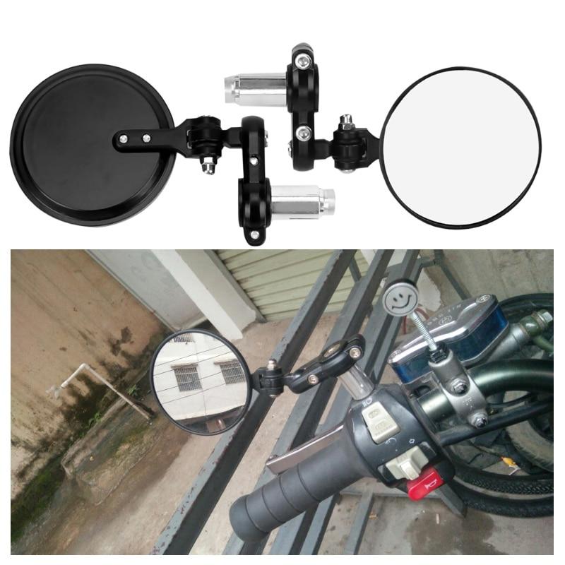 Universal Motorcycle Rearview Mirror Round Handlebar Bar End Rear View Mirrors Side Mirror Bike Motorbike Retrofit Accessories