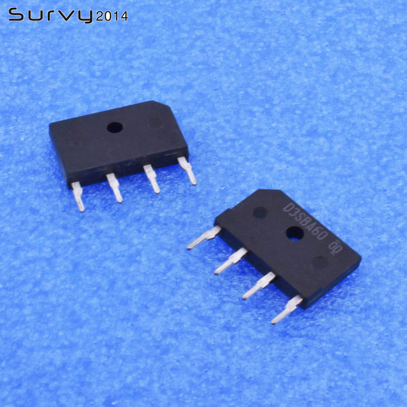 5 uds/10 Uds D3SBA60 D3SBA6 SIP4 rectificador de puente 600V 4A diy electrónica
