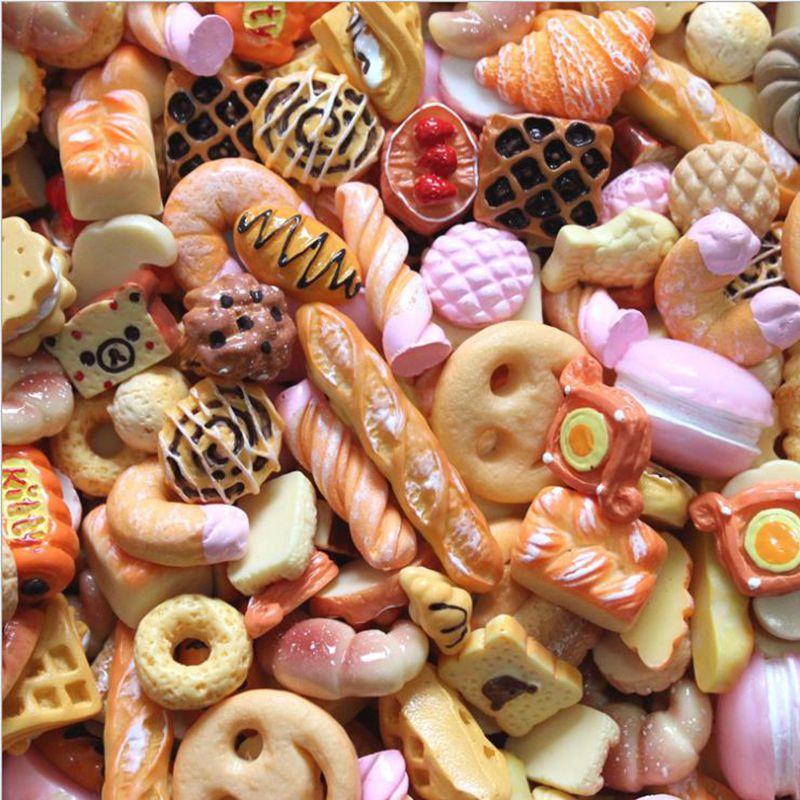 30 шт. смешанных 1/6 масштаб миниатюрная еда мини хлебное Печенье Торт Конфеты Пончик Blyth Барби BJD ролевые игры игрушки аксессуары