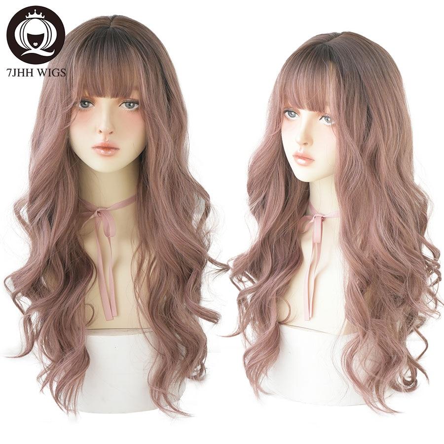 7JHH-شعر مستعار صناعي مجعد للنساء ، شعر طويل مجعد ، مقاوم للحرارة ، 26 بوصة