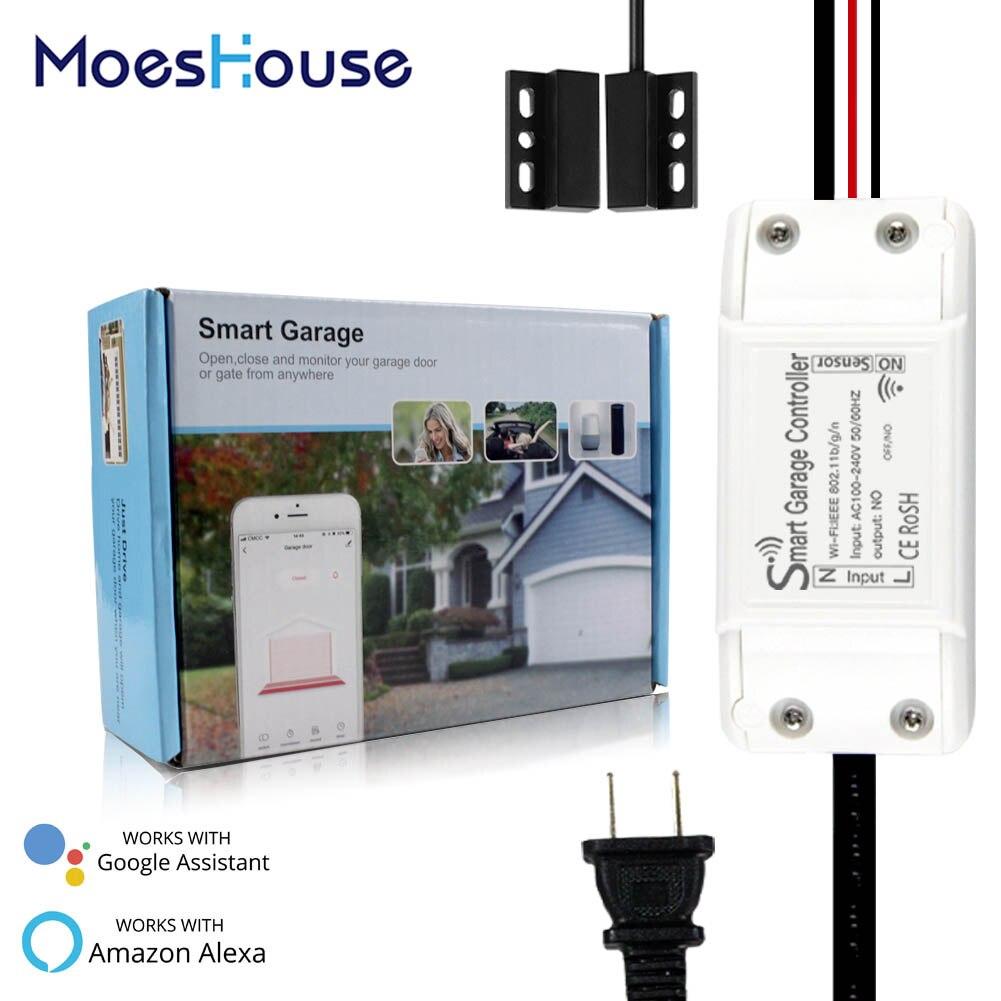 WiFi Smart Garage Tür Controller Opener Smart Leben/Tuya APP Remote Kompatibel Mit Alexa Echo Google Home Keine Hub erfordern