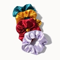 new solid color crystal satin hair scrunchies elastic hair ring for girls ponytail holder fashion temperament hair rope headwear