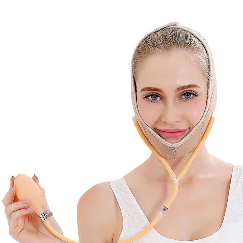 Air Press Lift Up Belt Face-Lift Mask Massager V-Line Cheek Chin Slimming Belt Face Shaper For Weight Loss Skin Care Beauty Tool