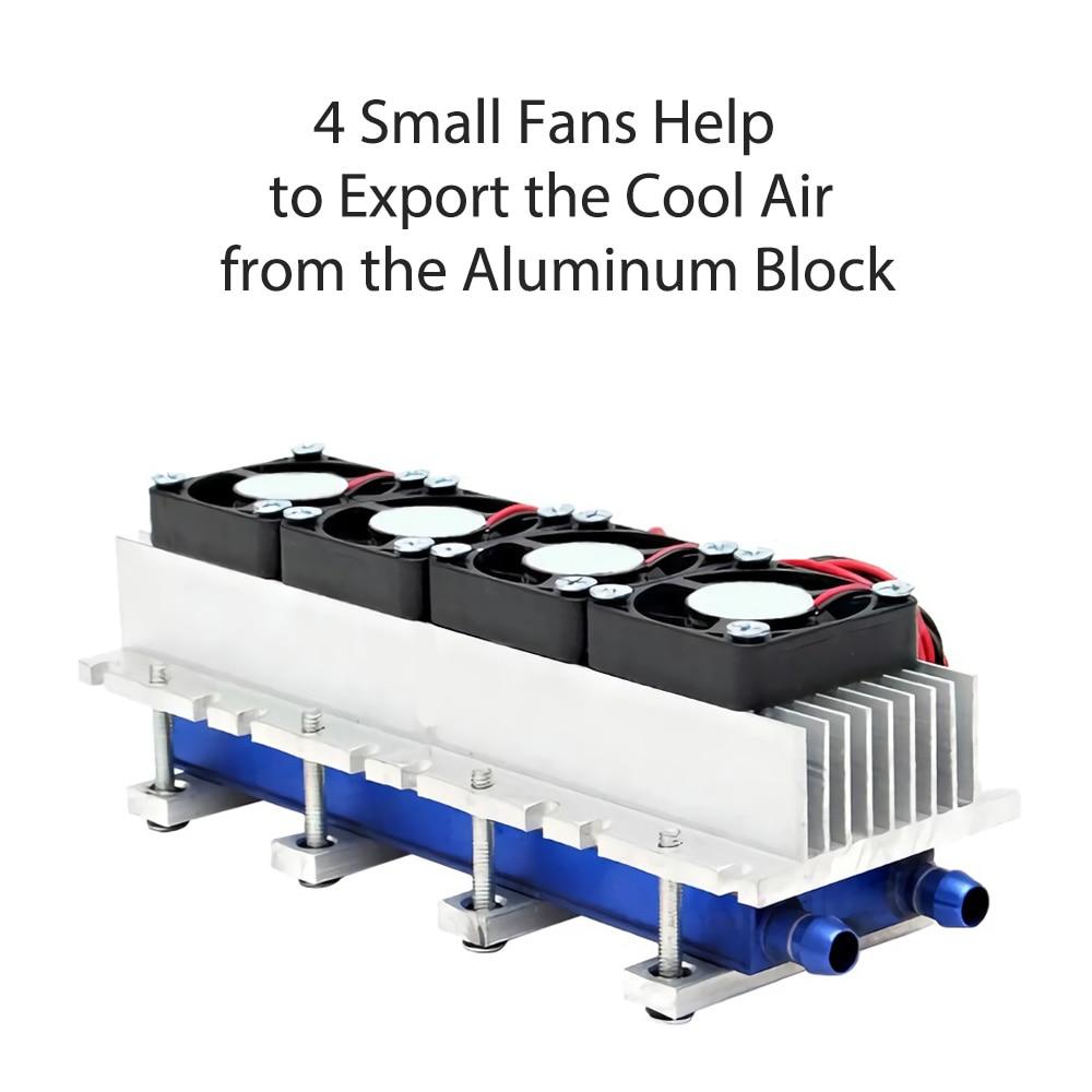 أشباه الموصلات تقشعر لها الأبدان لوحة 12 فولت الثلاجة برودة مكون 288 واط المبرد تبريد الهواء بالوعة الحرارة تكييف الهواء الثلاجة