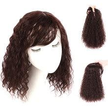 Salonchat Corn Beard Intermediate Hair Topper with Bangs for Women Long Ponytail Fake Hair Ponytail Clip Ponytail with Bangs