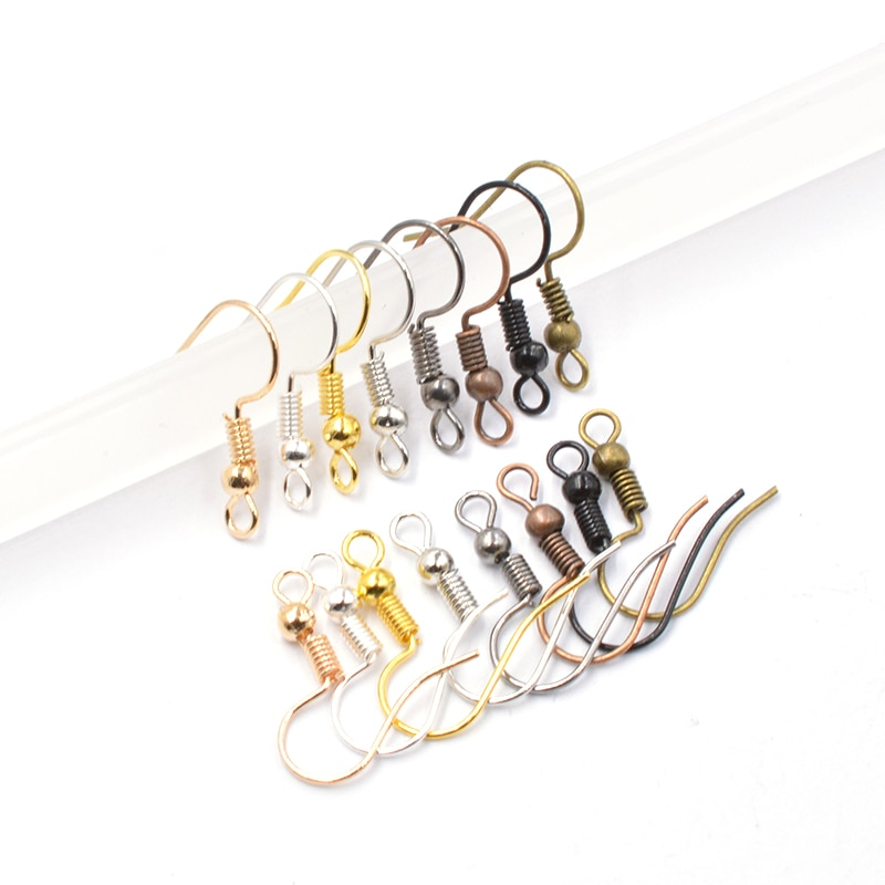 100pcs/lot 8 color Earring Findings Earrings Clasps Hooks Fittings DIY for DIY Jewelry Making Suppli