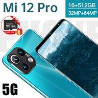 Искусственная кожа 2021, новый модный смартфон, 16 ГБ + 512 ГБ для Xiaomi Mi 11 Pro, мобильный телефон Huawei Samsung Apple Vivo