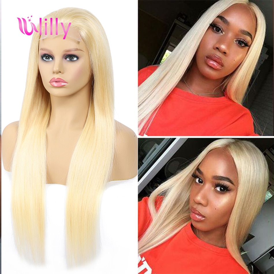 ULilly 4x4 תחרת סגירת פאה 613 בלונד הודי ישר רמי שיער טבעי פאות עבור נשים Perruque bresilienne pelucas דה mujer